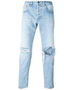 +People | Ripped Straight Leg Jeans