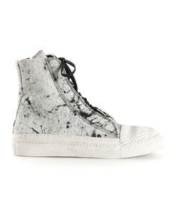 Rombaut | Marble Print Fitted Hi-Top Sneakers