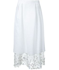 Mother Of Pearl   Embellished Layered Skirt