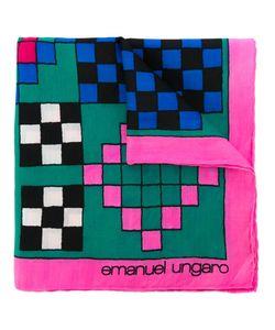 Emanuel Ungaro Vintage   Check Print Pocket Square Adult Unisex