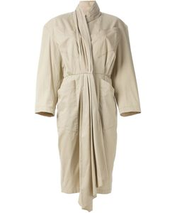 Thierry Mugler Vintage | Pleated Scarf Collar Dress