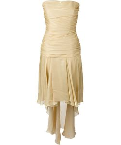 Jean Louis Scherrer Vintage | Draped Strapless Train Dress