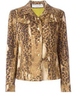 Christian Dior Vintage   Leopard Print Denim Jacket