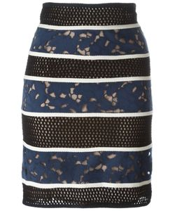 Veronique Leroy | Perforated Cut-Out Detailing Skirt