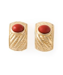 Christian Dior Vintage | Painted Stone Clip On Earrings