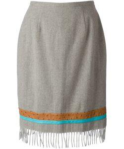 Jean Louis Scherrer Vintage | Fringed Skirt