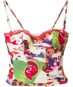 Christian Dior Vintage | Mixed Print Bustier Top