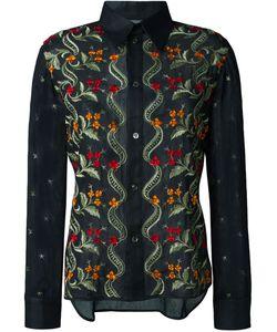Yohji Yamamoto Vintage | Embroidered Sheer Shirt