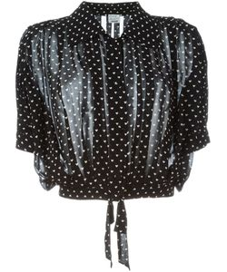 Moschino Vintage | Heart Print Tie Blouse