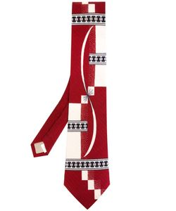 Yohji Yamamoto Vintage | Geometric Woven Tie