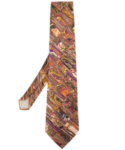 Yohji Yamamoto Vintage | Abstract Marble Print Tie