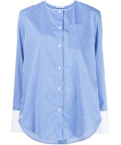 Tome | Collarless Striped Shirt