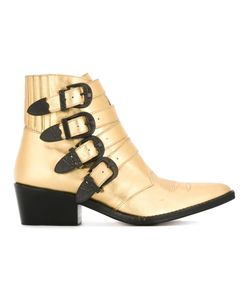 Toga Pulla   Embossed Buckled Boots 39