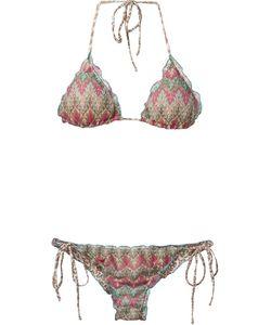 Brigitte | Printed Triangle Bikini Set