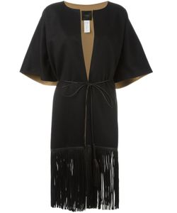 Agnona | Fringed Short Sleeve Coat Large