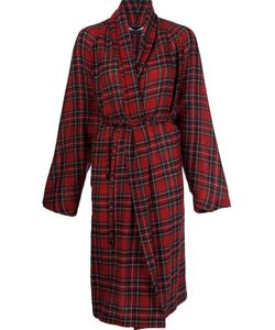 Rosetta Getty | Tartan Pattern Cardi-Coat 2