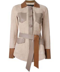 Blancha   Belted Leather Jacket