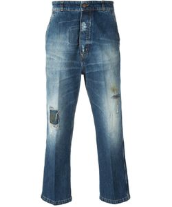 +People | Cropped Distressed Jeans
