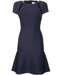 Hervé Léger   Lace-Up Detail Dress