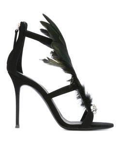 Giuseppe Zanotti Design | Feather Embellished Sandals 35