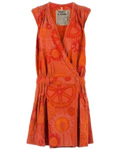 Projet Alabama | Sunshine Patterned Wrap Dress Women Small