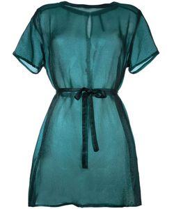 Minimarket | Semi Sheer Tie Up Shirt Dress
