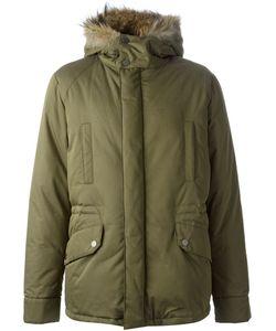 Army Yves Salomon   Trimmed Hood Padded Jacket
