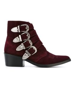 Toga Pulla   Western Buckle Ankle Boots 36 Metal