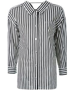 Mihara Yasuhiro | Draped Back Striped Shirt