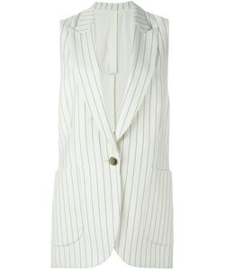 Petar Petrov   Striped Sleeveless Jacket