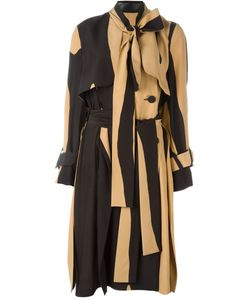 Petar Petrov | Striped Pussy Bow Trench Coat