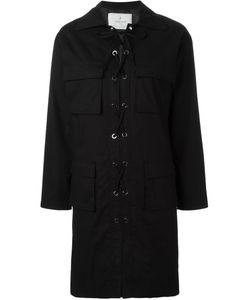 Carolina Ritzler | Lace-Up Shirt Dress 36