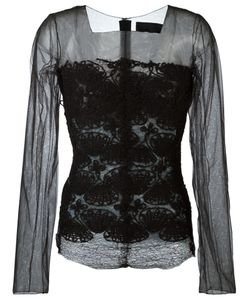 Marc Le Bihan | Embroidered Sheer Blouse