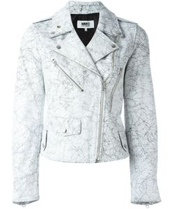 Mm6 Maison Margiela | Crack Effect Biker Jacket 44