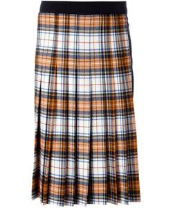 Cédric Charlier | Pleated Tartan Skirt