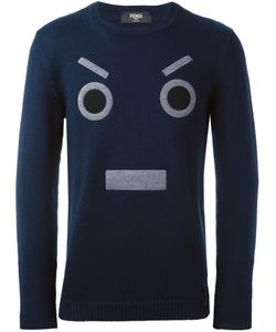 Fendi   Face Embroidered Sweater