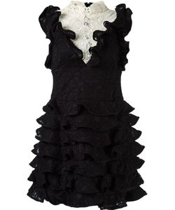 Martha Medeiros | Ruffled Lace Dress 40