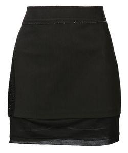 Musée   Contrast Panel Mini Skirt