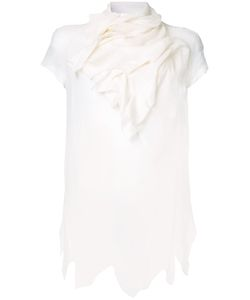 Aganovich | Draped Neck Asymmetric Blouse
