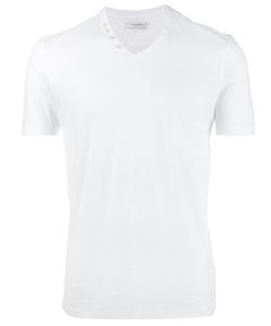 Paolo Pecora | Buttoned V-Neck T-Shirt Small