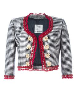 Moschino Vintage | Cropped Houndstooth Jacket