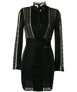 Pierre Balmain | Lace Panel Fitted Dress