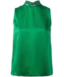 L'Autre Chose | Embellished High Neck Sleeveless Top