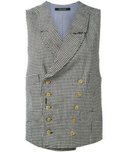 Ermanno Gallamini   Check Waistcoat M