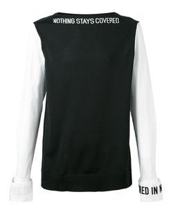 Juun.J | Slogan Neck And Cuff T-Shirt 48 Polyethylene/Cotton/Polyurethane