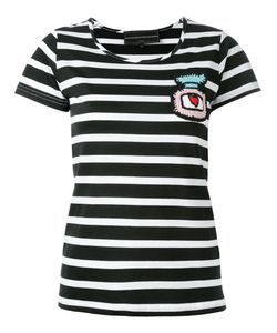 Michaela Buerger | Patch Striped Cropped T-Shirt Size Small