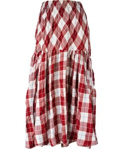 Yohji Yamamoto Vintage | Long Checked Skirt