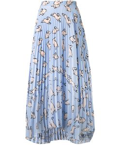 Markus Lupfer | Bunny Hop Pleated Skirt