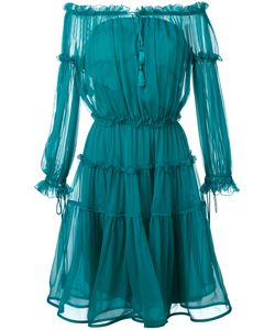 Alberta Ferretti | Off-The-Shoulder Midi Dress Size 40