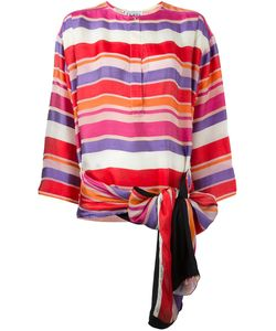 Gianfranco Ferre Vintage | Bow Detail Striped Blouse